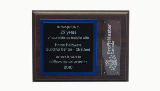 Awards & Recognition - ProfitMaster Plaque