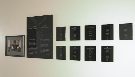 Signage - Order of Manitoba Plaques