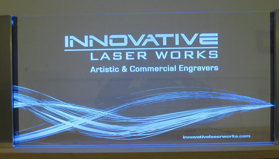 Edge Lighting - Innovative Laser Works Sign